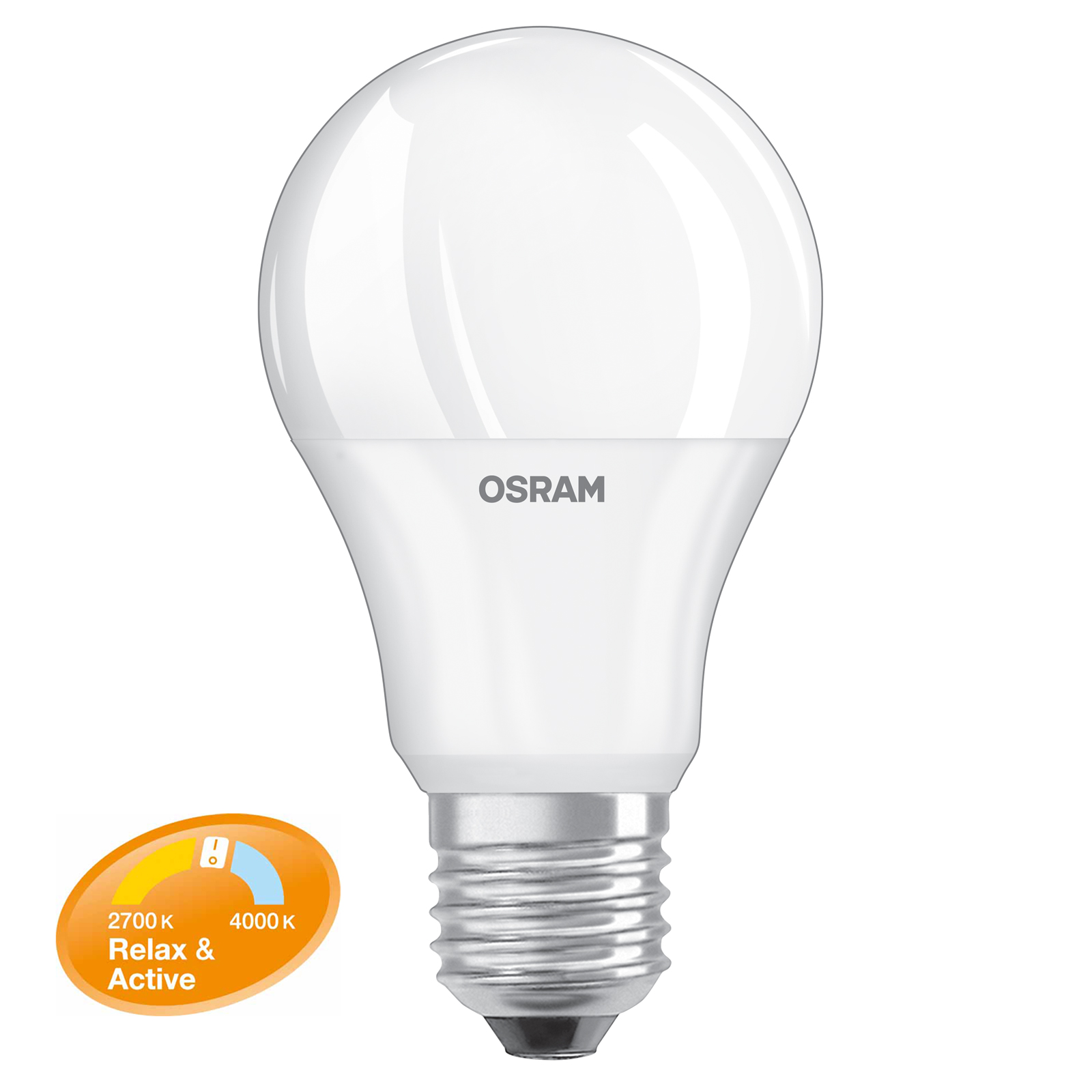 LED-Lampe OSRAM Relax & Active E27 8W (Ersatz für 60 Watt) 806 Lumen warmweiß & kaltweiß