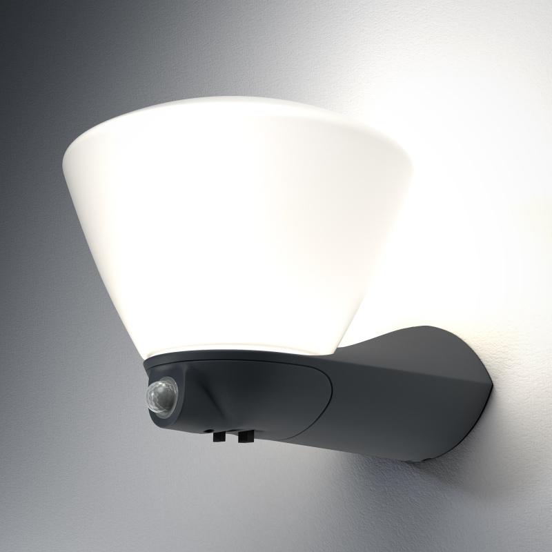 osram endura style led lantern bowl sensor leuchte 7 watt dunkelgrau warm white. Black Bedroom Furniture Sets. Home Design Ideas