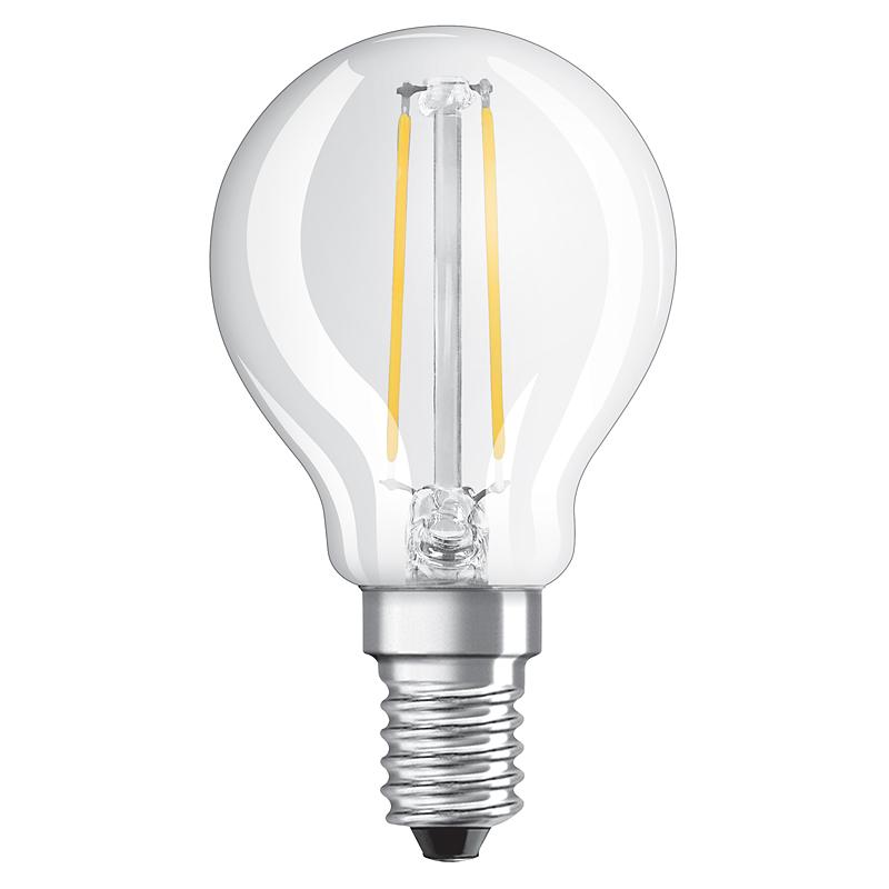 filament led lampe osram e14 2w ersatz f r 23 watt 230 lumen warmwei. Black Bedroom Furniture Sets. Home Design Ideas