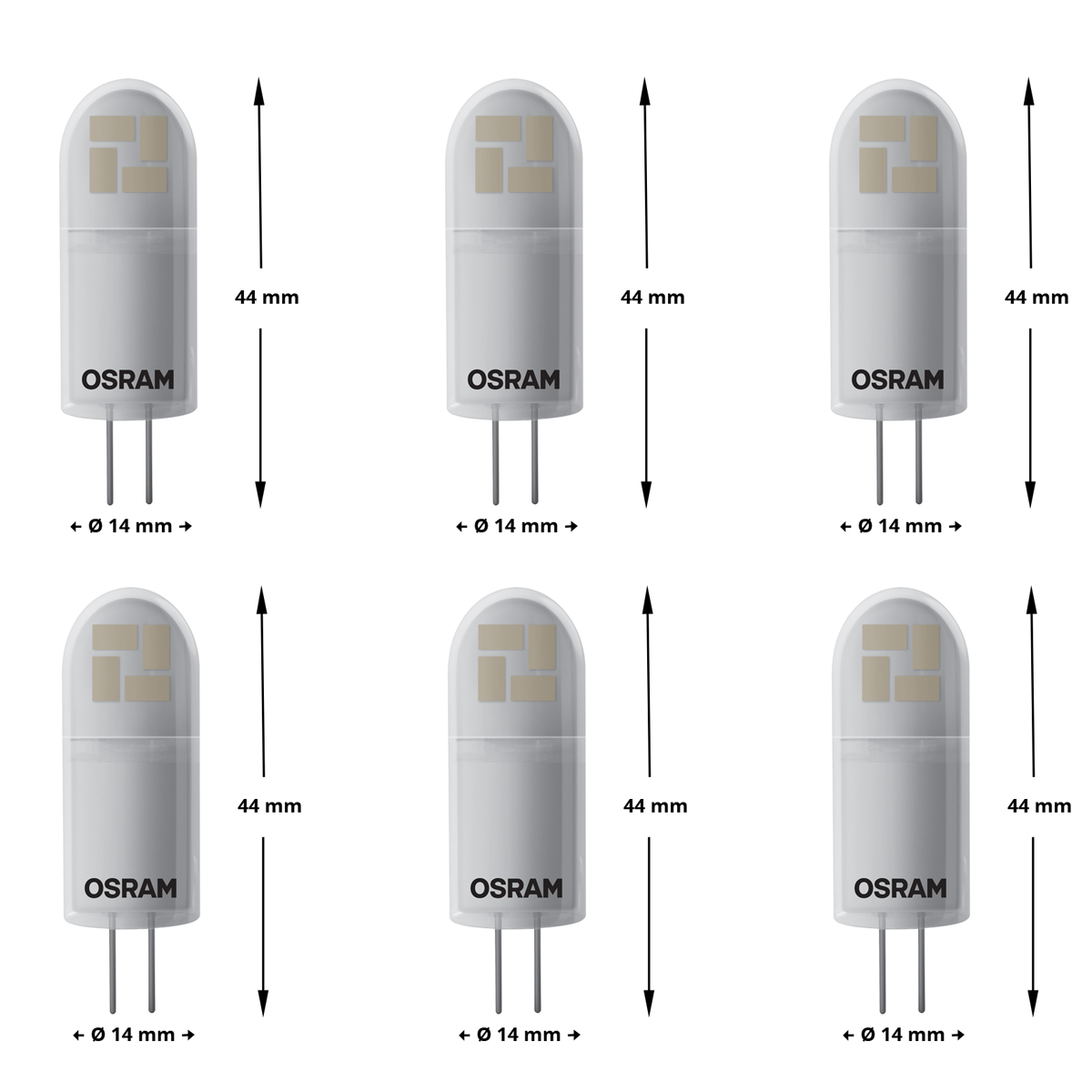 osram led star pin 30 g4 2 4w 28w 300lm warm white 2700k nodim cri 80 ra a 6er ebay. Black Bedroom Furniture Sets. Home Design Ideas