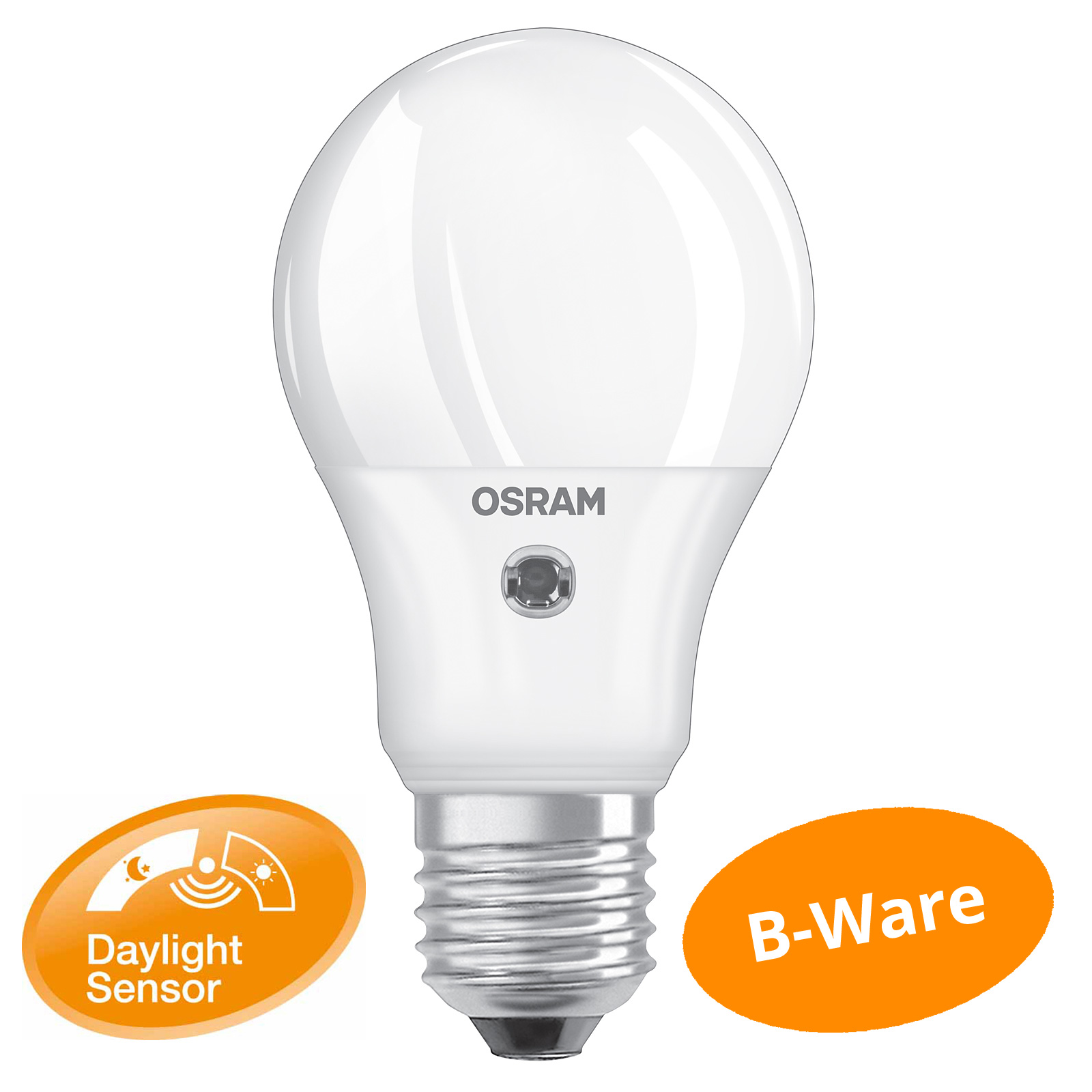 osram daylight sensor classic a 40 e27 5watt wie 40 watt 470 lumen warm white ebay. Black Bedroom Furniture Sets. Home Design Ideas