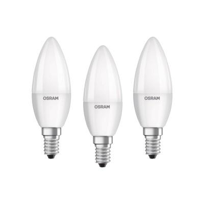 OSRAM LED BASE CLASSIC B 40 E14 matt 5,7W=40W 470lm warm white 2700K non-dim 3er
