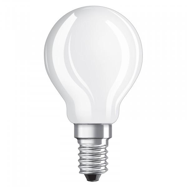 OSRAM LED CLASSIC P 40 E14 RETROFIT GLAS 4W=40W 470lm warmweiß 2700K ...