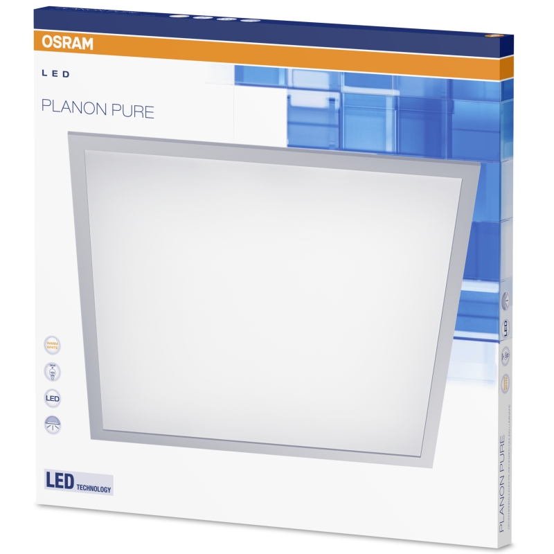 osram planon pure led panel deckenleuchte 36 watt warm white 3200 lumen 60x60 cm ebay. Black Bedroom Furniture Sets. Home Design Ideas