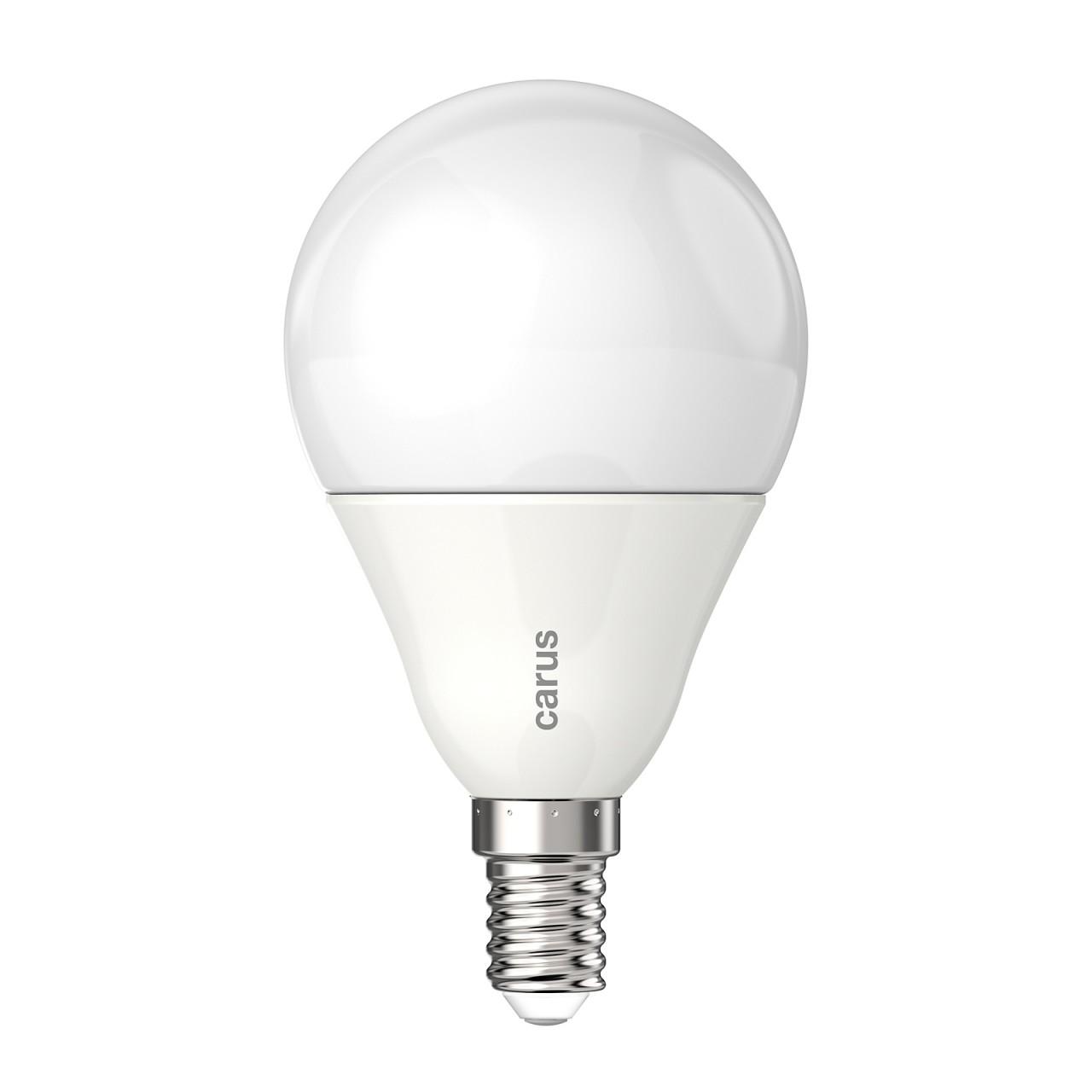 CARUS LED-LAMPE E14 MATT 8,3W=48W 600lm warmweiß 2700K dimmbar 90 Ra ...