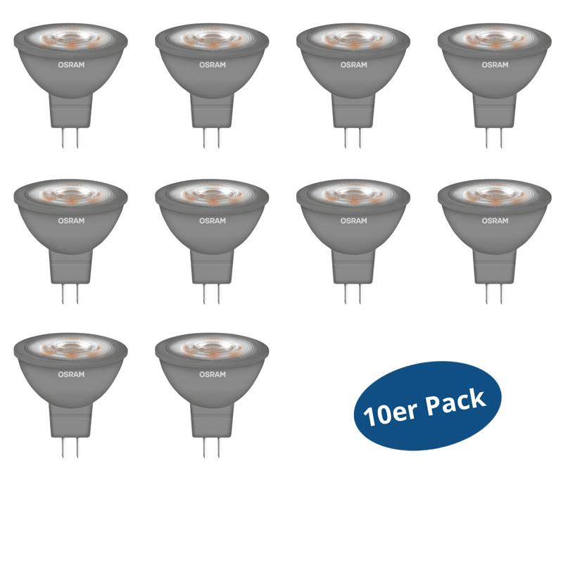 10er pack osram led star mr16 glowdim gu5 3 5 w 35 w. Black Bedroom Furniture Sets. Home Design Ideas