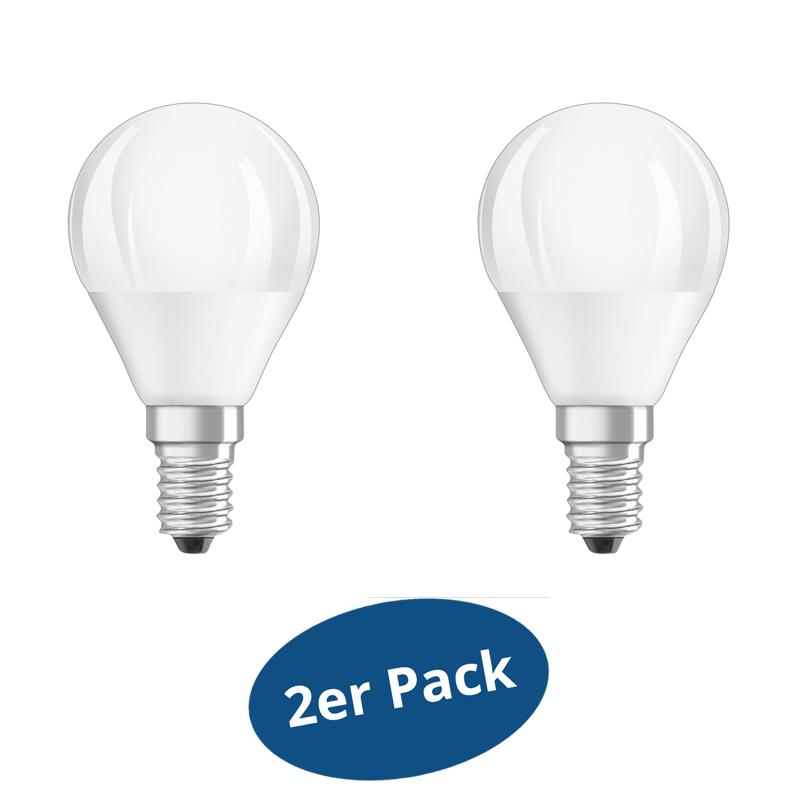 2er pack osram led star cla p40 duo click dim e14 5 5w 40 for Lampen 40 watt