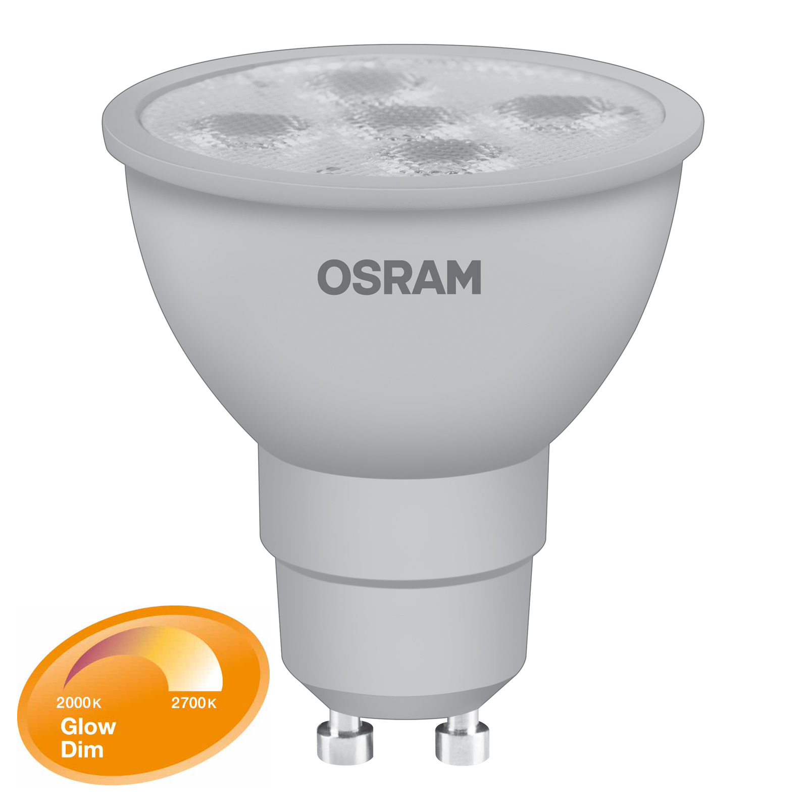 10517-OSRAM-GLOWdim-LED-Spot-GU10-5W-Ersatz-fuer-48-Watt-330-Lumen-warmweiss-dimmbar-1 Verwunderlich Gu10 Led Dimmbar Dekorationen