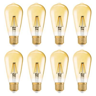 OSRAM VINTAGE 1906 LED EDISON ST51 E27 7,5W=55 W 725 lm warm white 2500K dim 8er