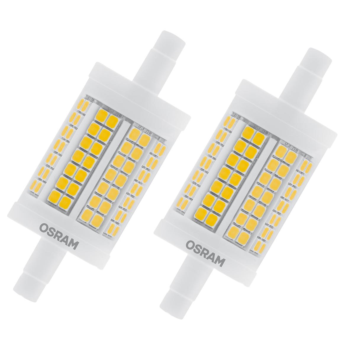 osram led star line r7s 11 5w 100w 1521lm warm white 2700k l nge 78mm nondim 2er. Black Bedroom Furniture Sets. Home Design Ideas