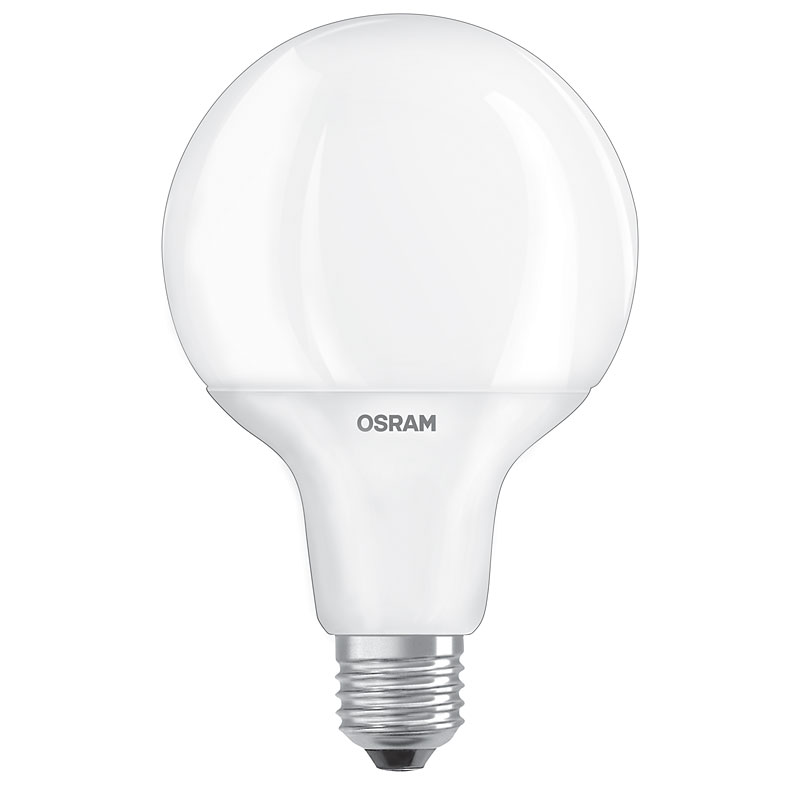 globe led lampe osram e27 9w ersatz f r 60 watt 806 lumen warmwei. Black Bedroom Furniture Sets. Home Design Ideas
