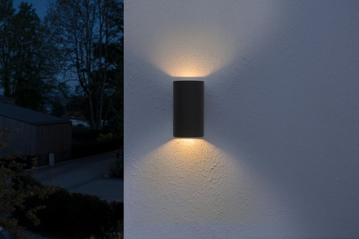 Osram Endura Style Updown LED Außenwandleuchte IP44 12W warm 3000K Dunkelgrau
