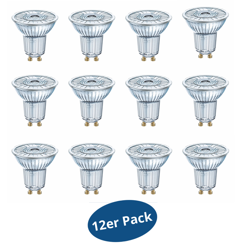 12er osram led superstar par16 36 4 6w wie 50 watt 350 lm warm white dimmable ebay. Black Bedroom Furniture Sets. Home Design Ideas