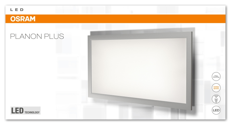 osram planon plus led panel matt 15w 1400 lumen warm white 3000k 60 x 30 cm wei ebay. Black Bedroom Furniture Sets. Home Design Ideas