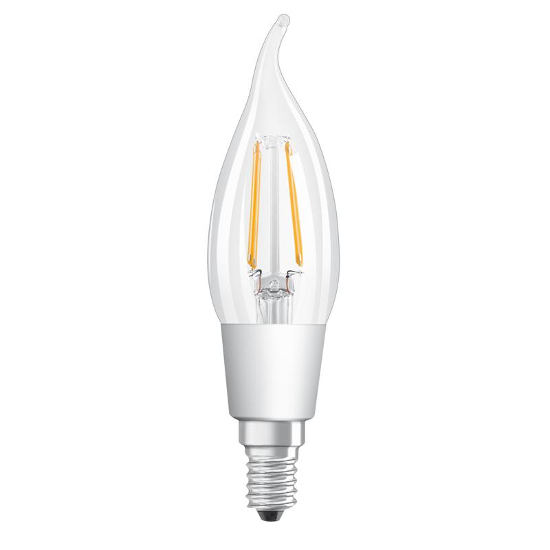 osram filament led kerze e14 4 5w wie 40 watt 470 lumen. Black Bedroom Furniture Sets. Home Design Ideas