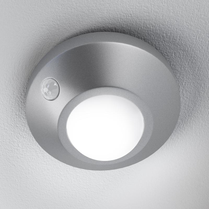 osram nightlux ceiling led leuchte sensor silber bewegungsmelder cool white. Black Bedroom Furniture Sets. Home Design Ideas