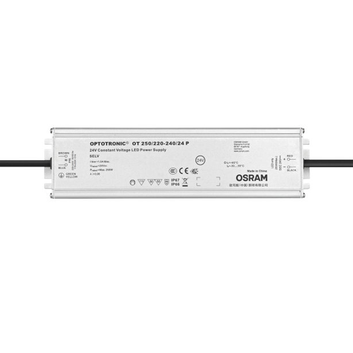 OSRAM OPTOTRONIC® OT 250//220-240//24P Konstantspannungsversorgung DC 24V-250 Watt