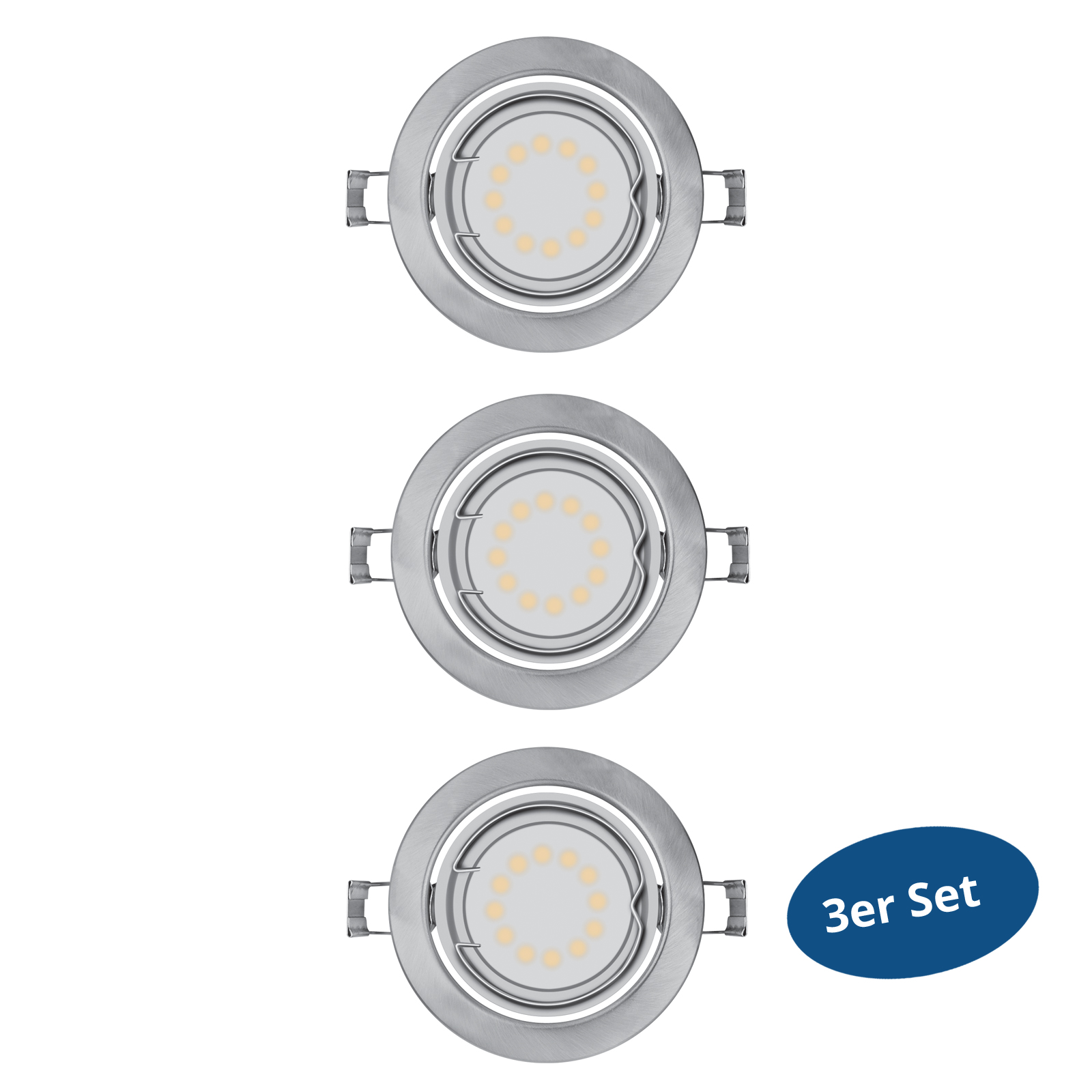 osram led downlights par16 gu10 120 3watt 240lm warm white austauschbar 3er set ebay. Black Bedroom Furniture Sets. Home Design Ideas