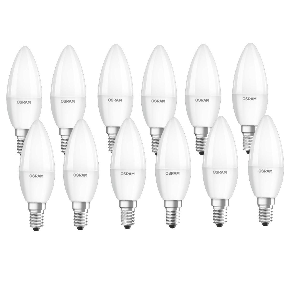 OSRAM LED BASE CLASSIC B 40 E14 matt 5,7W=40W 470lm warm white 2700K nondim 12er