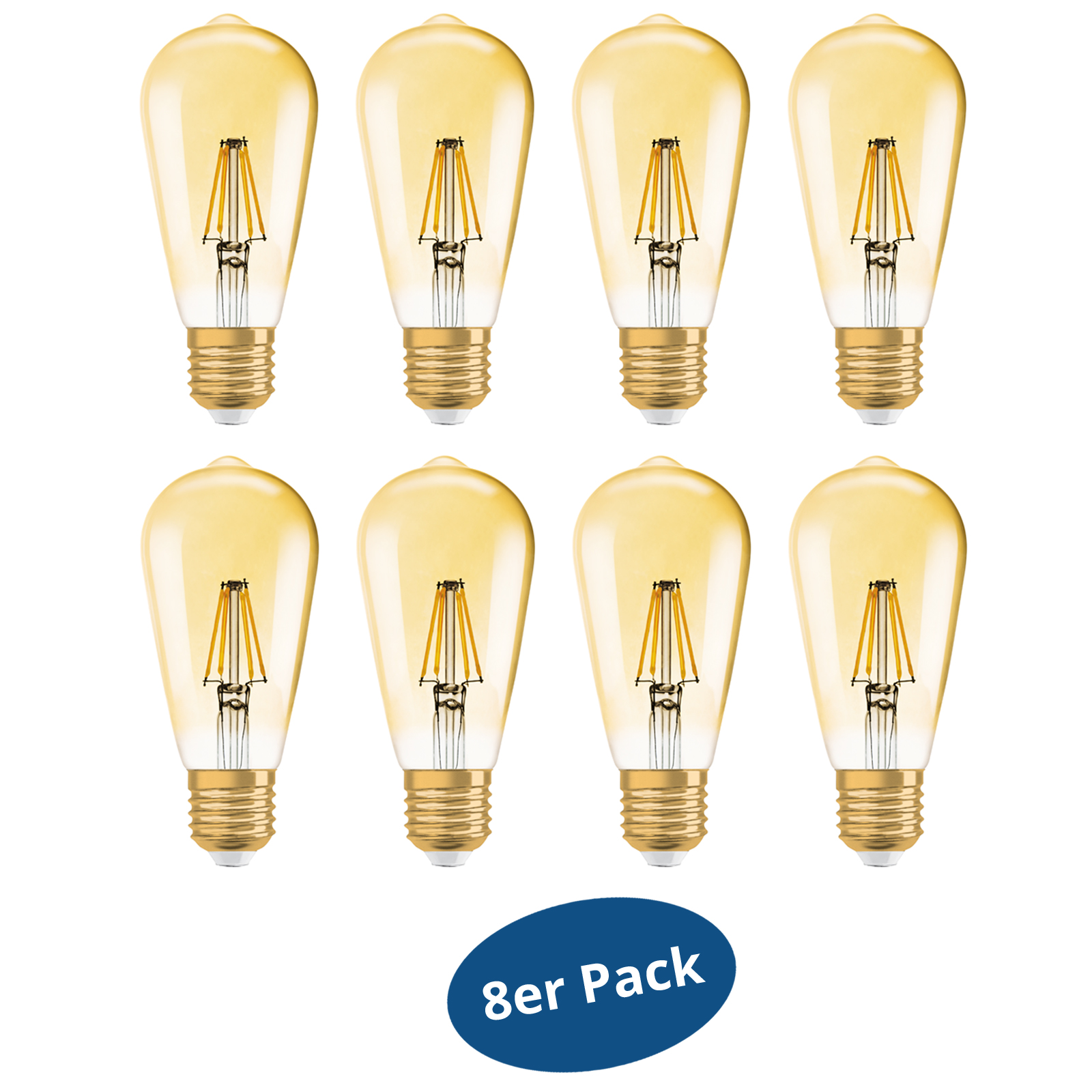 8er pack osram led lampe edition 1906 e27 6 5w edison 51w warm white dimmable. Black Bedroom Furniture Sets. Home Design Ideas