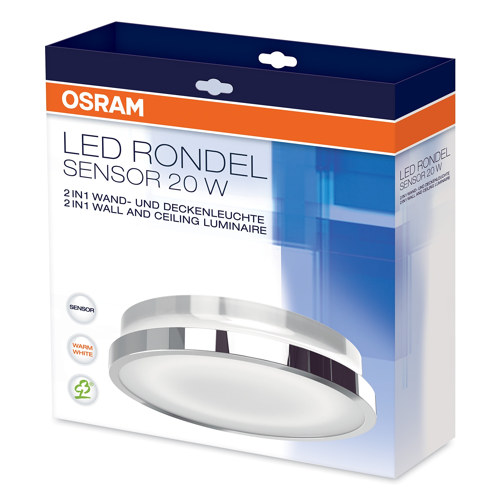 osram led deckenleuchte rondel sensor 21w warmwei 3000k. Black Bedroom Furniture Sets. Home Design Ideas