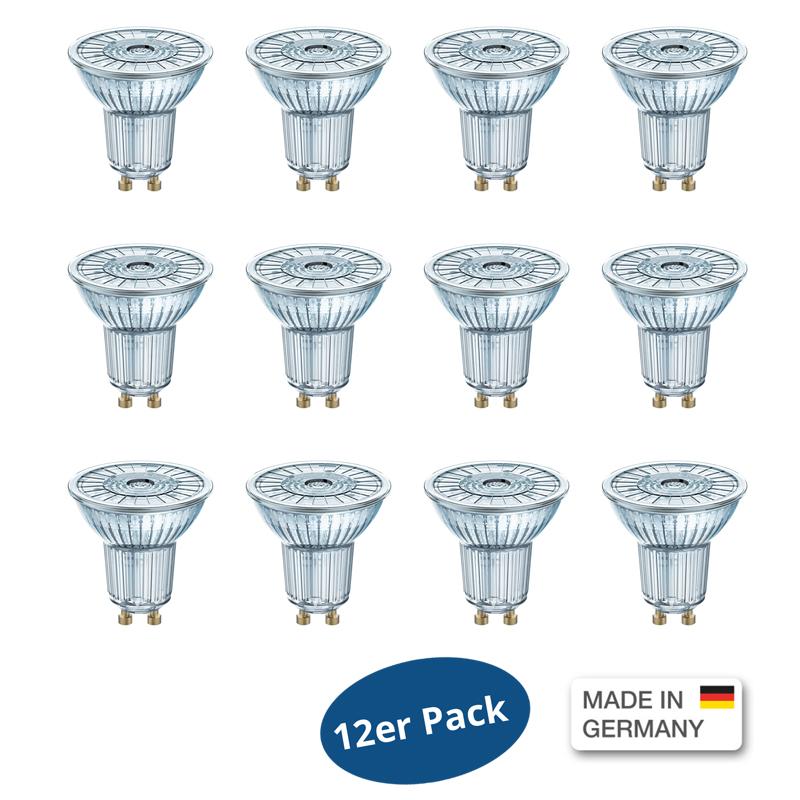 12er pack osram led base par16 50 36 4 3watt wie 50 watt for Led lampen 0 3 watt