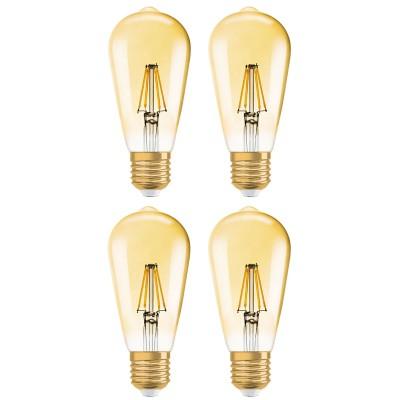 OSRAM VINTAGE 1906 LED EDISON ST51 E27 7,5W=55 W 725 lm warm white 2500K dim 4er