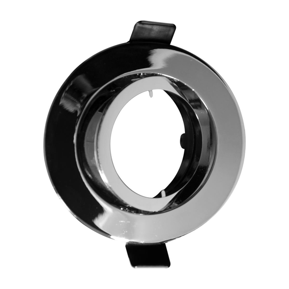 einbaurahmen alu chromoptik schwenkbar 68mm mit gu10 fassung f r par16 spots. Black Bedroom Furniture Sets. Home Design Ideas