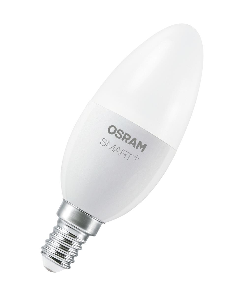 osram smart candle e14 classic b 40 dimmable 6w 40w 470lm warm white 2700k 80ra ebay. Black Bedroom Furniture Sets. Home Design Ideas