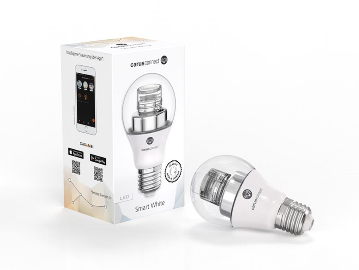 CARUS CONNECT SMART WHITE LED KLAR E27 8W 560lm CRI 95 Ra dimmbar m Casambi App