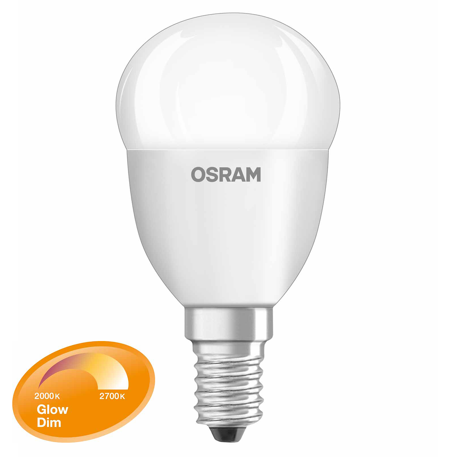 osram led classic p glow dim e14 6 5w wie 40 watt 470 lm warmwei dimmbar ebay. Black Bedroom Furniture Sets. Home Design Ideas