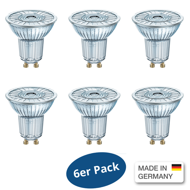 6er osram led base par16 36 4 3 w wie 50 w 350 lm neutral white 4000 kelvin ebay. Black Bedroom Furniture Sets. Home Design Ideas