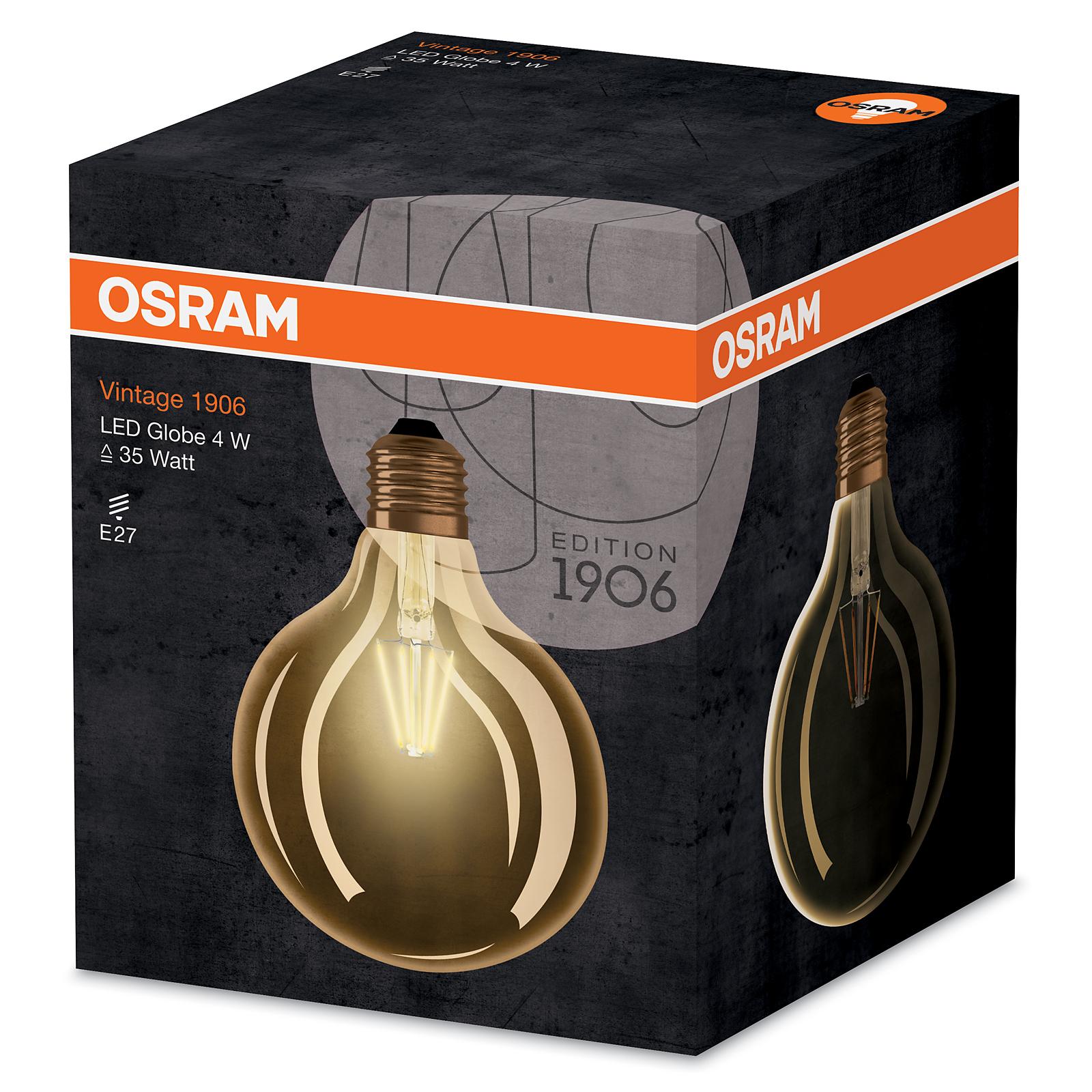 osram vintage 1906 led filament globe e27 4w 35w 410lm gold warm white 2400k 1er 4052899962071. Black Bedroom Furniture Sets. Home Design Ideas