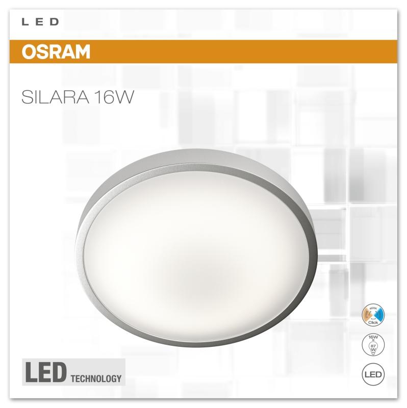 osram silara clickswitch led deckenleuchte 16 watt click. Black Bedroom Furniture Sets. Home Design Ideas