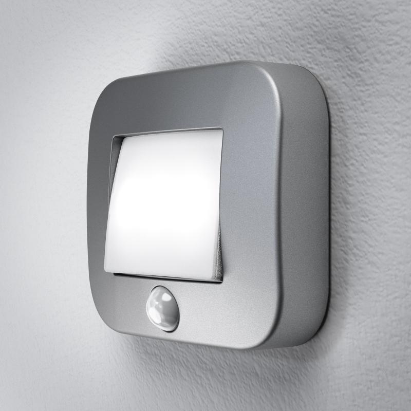 osram nightlux hall sensor led leuchte silber mit. Black Bedroom Furniture Sets. Home Design Ideas