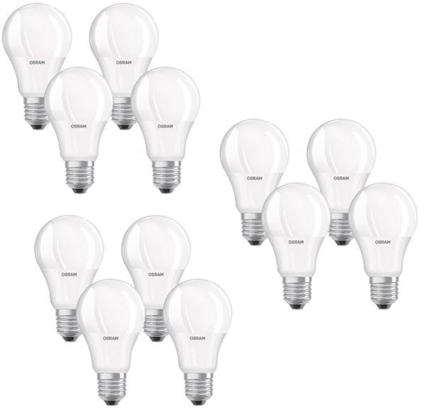 OSRAM LED BASE CLASSIC A 75 MATT 11W=75W 1055lm 200° warmweiß 2700K nodim A 4er