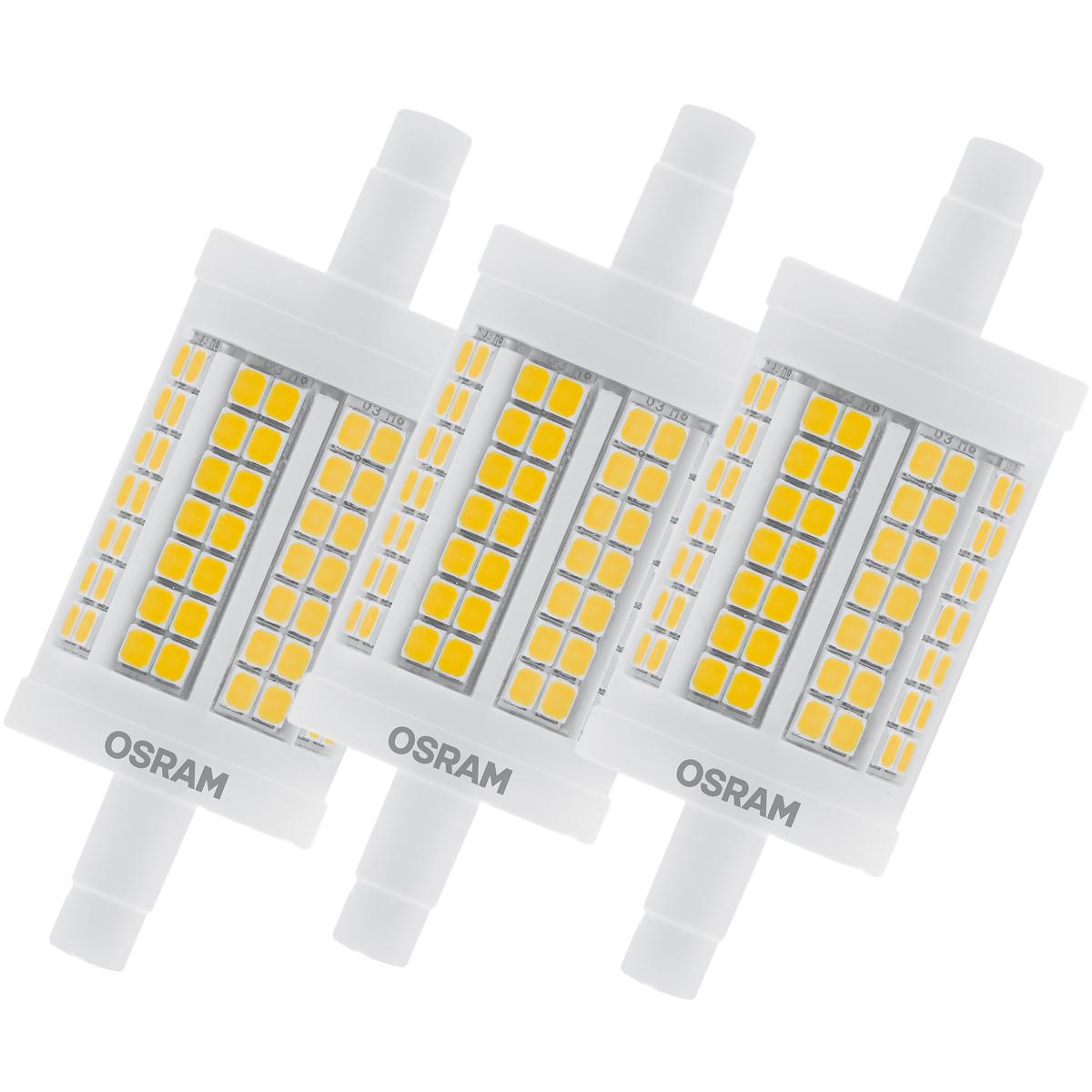 osram led star line r7s 11 5w 100w 1521lm warm white 2700k l nge 78mm nondim 3er. Black Bedroom Furniture Sets. Home Design Ideas