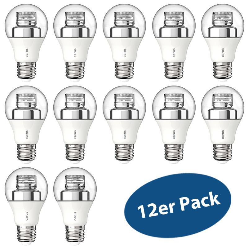 LED-Lampe CARUS Warm By Click E27 7,5W (ersetzt 48 Watt) Dimmbar per Lichtschalter - 12er Pack