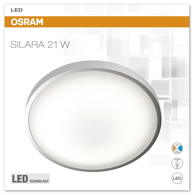 osram silara clickswitch led deckenleuchte 21 watt click cct 41 cm wei ebay. Black Bedroom Furniture Sets. Home Design Ideas