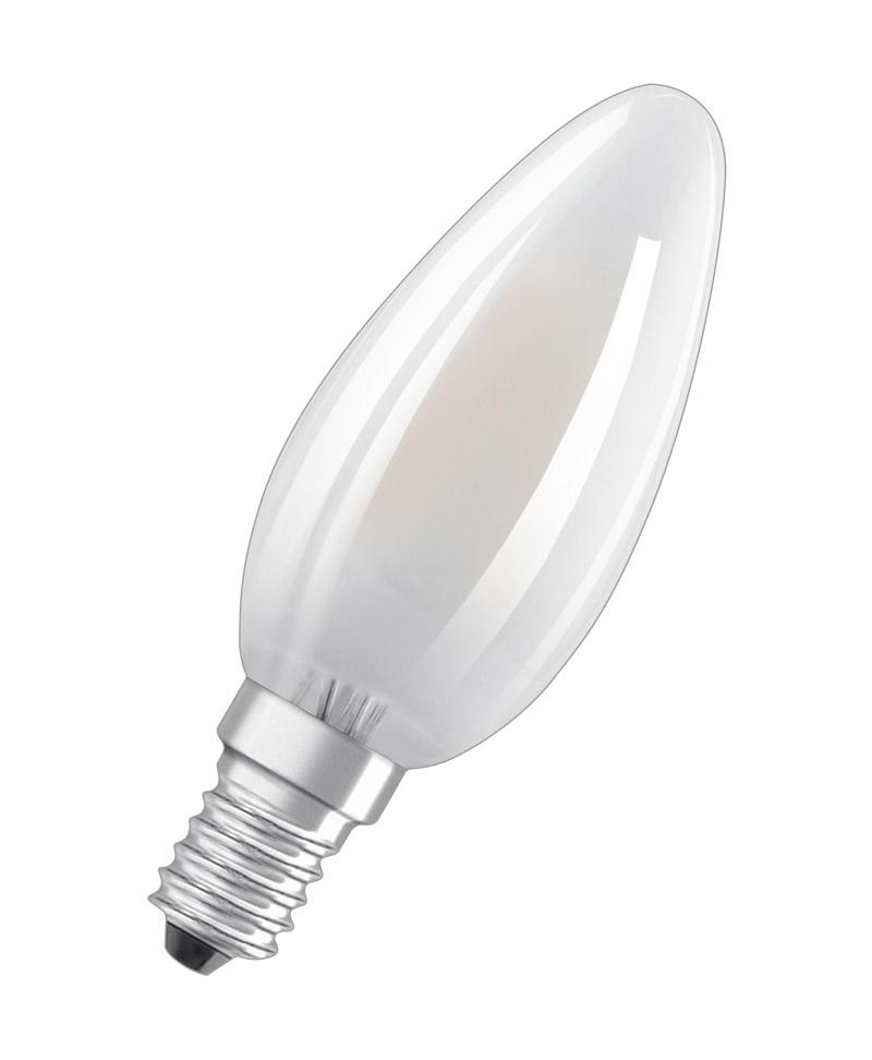 OSRAM LED BASE CLASSIC B 40 E14 FILAMENT 4W=40W 470lm warm weiß 2700K nodim 10er