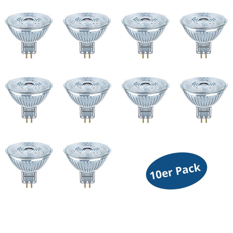 10er pack osram led star mr16 3 w 20 watt 230 lm 36 for Led lampen 0 3 watt