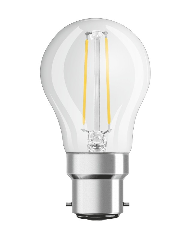 OSRAM LED STAR CLASSIC P25 B22d 2 8W=25W 250lm warm white 2700K