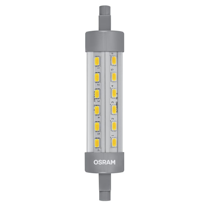 led lampe osram r7s 9w ersatz f r 75 watt 1055 lumen warmwei l nge 118 mm ebay. Black Bedroom Furniture Sets. Home Design Ideas