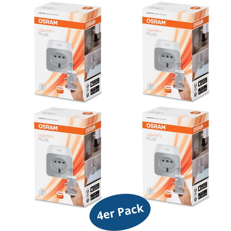 osram lightify plug smart home funksteckdose mit repeaterfunktion 4er pack ebay. Black Bedroom Furniture Sets. Home Design Ideas