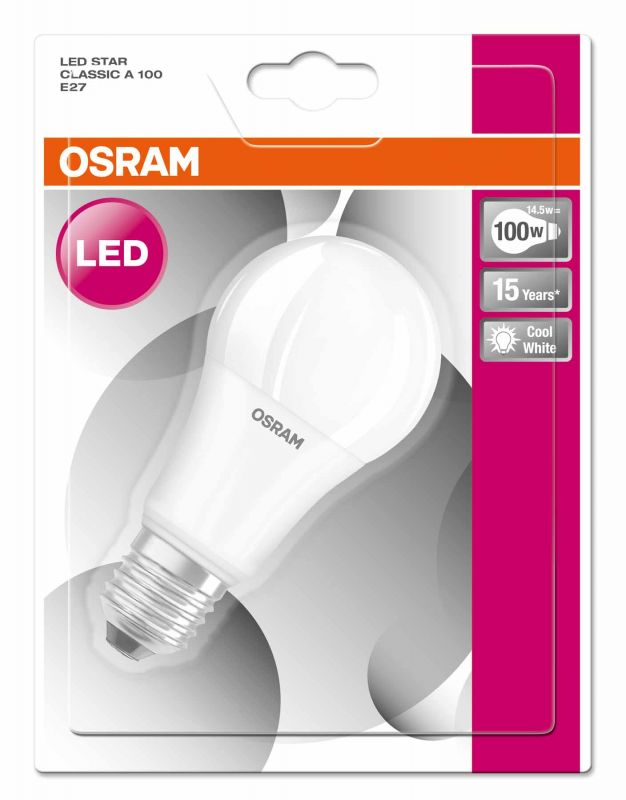 led lampe osram e27 13w ersatz f r 100 watt 1522 lumen kaltwei. Black Bedroom Furniture Sets. Home Design Ideas